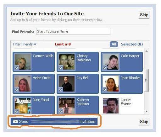 Facebook Auto-Invite Step 1
