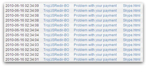 Skype spam messages