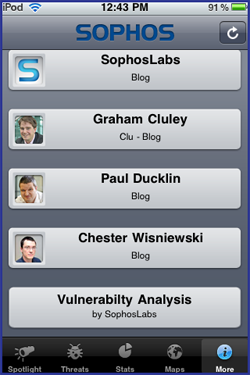 Sophos Threat Monitor blogs