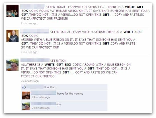 White Gift box warnings