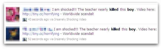 Facebook messages about teacher nearly killing a boy