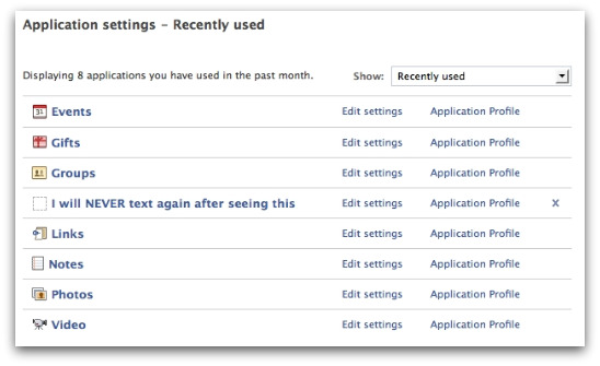 The rogue application should be removed through Facebook Application settings