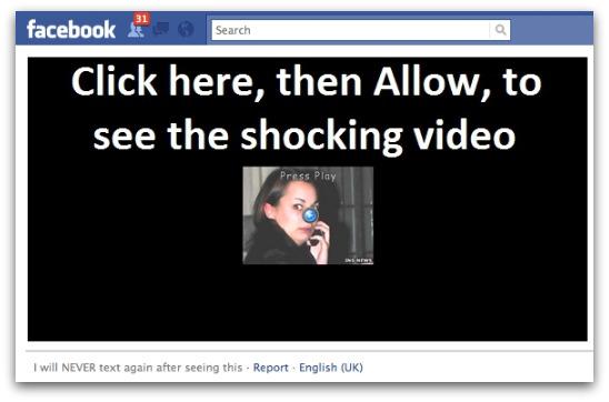 Rogue Facebook application