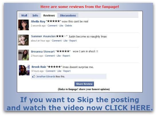 Reviews of the Facebook Justin Bieber video