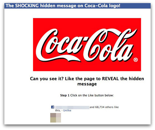 Coca-Cola logo Facebook scam