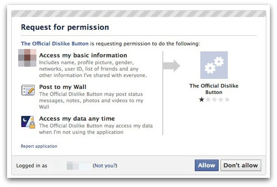Dislike app permission
