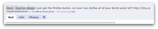 Dislike status update