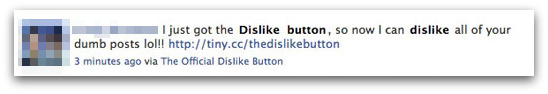 I just got the Dislike  button, so now I can dislike all of your dumb posts lol!!
