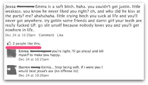 Facebook Emma conversation