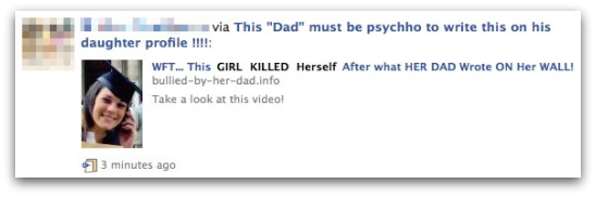 WFT - This girl killed herself after what her dad wrote on her wall