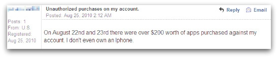 iTunes/PayPal web scam victim on Apple support forum