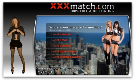 Adult dating website linked to from Skype spam
