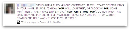 Warning about the New Gifts for You Facebook virus