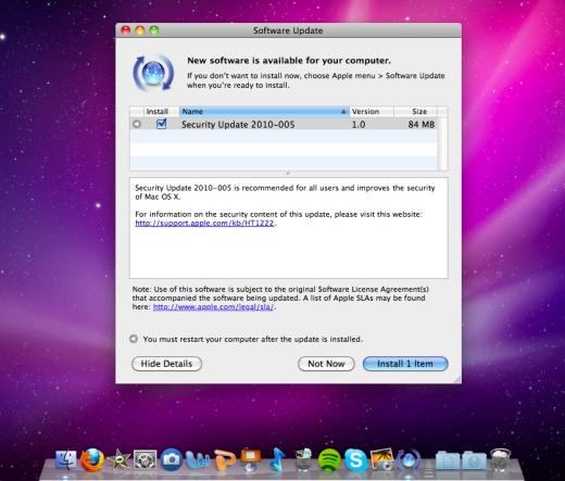 Mac OS X security update