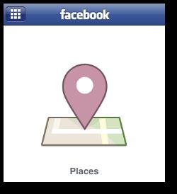 Facebook Places screenshot