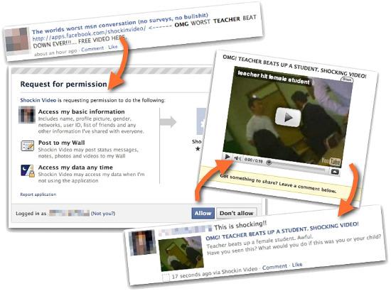 Shocking Video rogue Facebook application