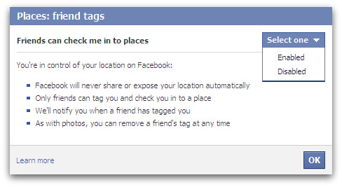 Can friends check me in to Places? Facebook Places - friend tags