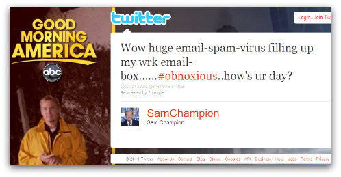 Tweet from Sam Champion
