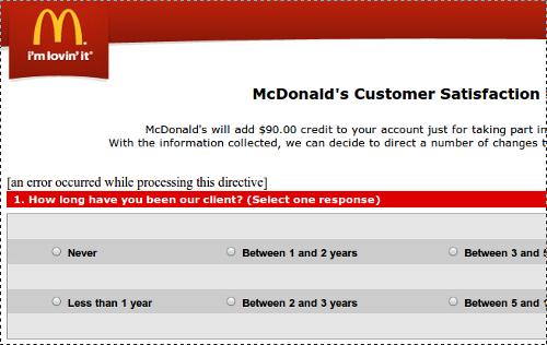 McDonald's phish survey
