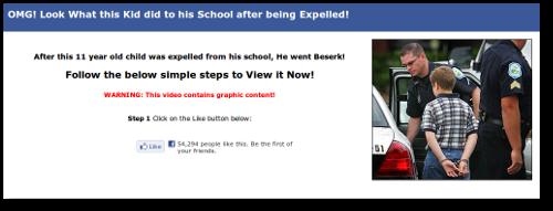 Screenshot of FB invite page