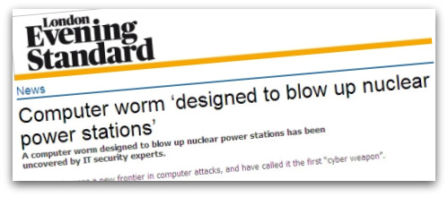 Headline about Stuxnet