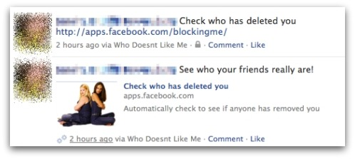 Check who has deleted you Facebook application