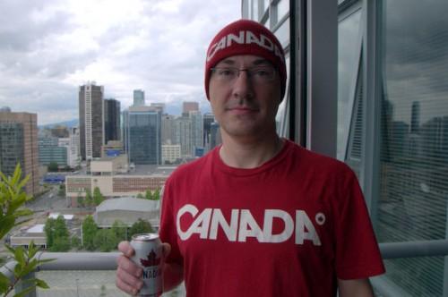 Chet Wisniewski enjoying Canada Day