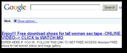 Poisoned Google result