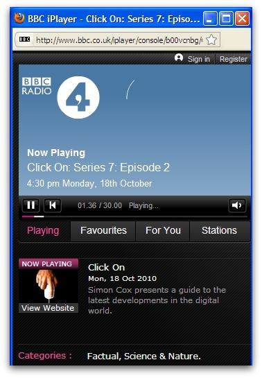 Click On BBC Radio 4 program