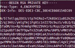 Screenshot of an SSH key