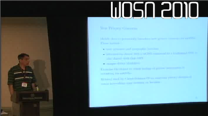 Photo of Craig Willis presenting at WOSN 2010