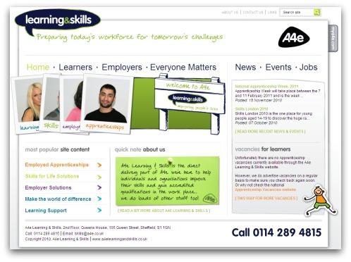 A4e's website