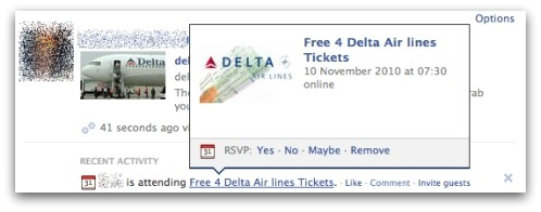 Delta Air Lines scam on Facebook