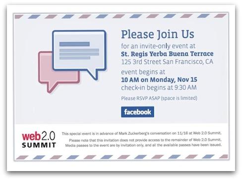 Invitation to Facebook announcement