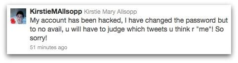 Kirstie changed password