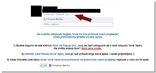 Malicious Facebook application targeting Croatian users