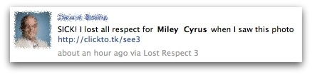 SICK! I lost all respect for Miley Cyrus when I saw this photo