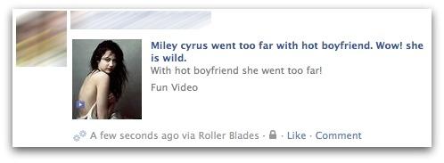 Miley Cyrus scam