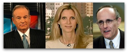 Bill O'Reilly, Ann Coulter and Rudy Giuliani