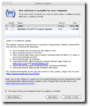 Apple Updater Safari