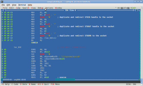 ARM shellcode