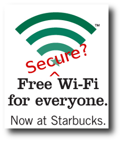 Starbucks secure WiFi