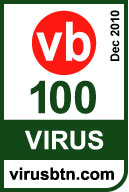 VB 100 logo for Dec 2010