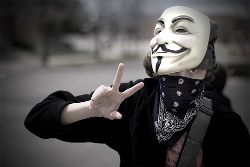 4chan Anonymous protester