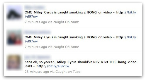 OMG Miley Cyrus is caught smoking a BONG on video