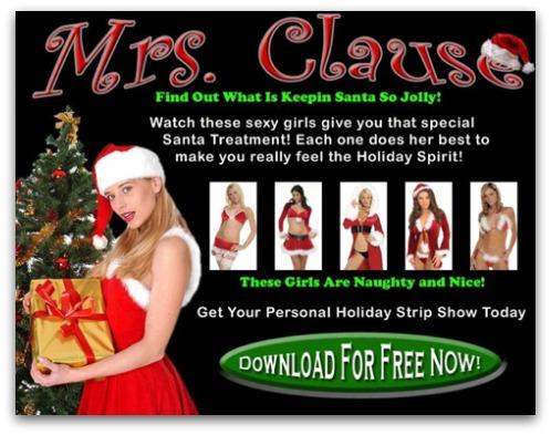 Santa striptease