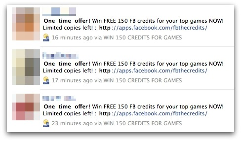 Facebook Credit messages