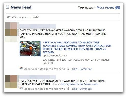 Facebook account hit by viral survey scam
