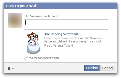 Should you republish the dancing snowman?