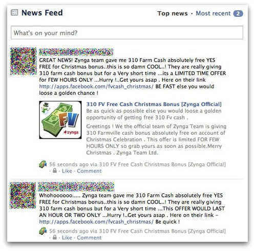Farm Cash newsfeed update
